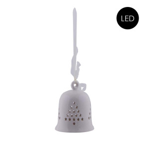 Porzellan Glocke mit LED Beleuchtung Größe L
