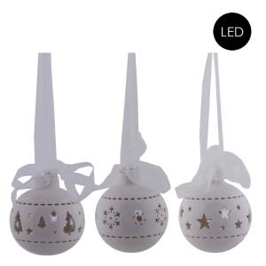 Porzellan Kugel/ Ball - LED Beleuchtung