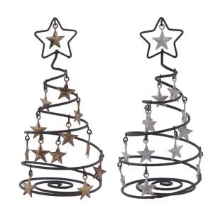 Metall Deko Draht-Baum mit Stern