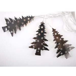 Metall Girlande Weihnachts-Bäume mit LED Beleuchtung
