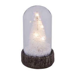 Glas Dome mit Baum und Schnee mit LED Beleuchtung