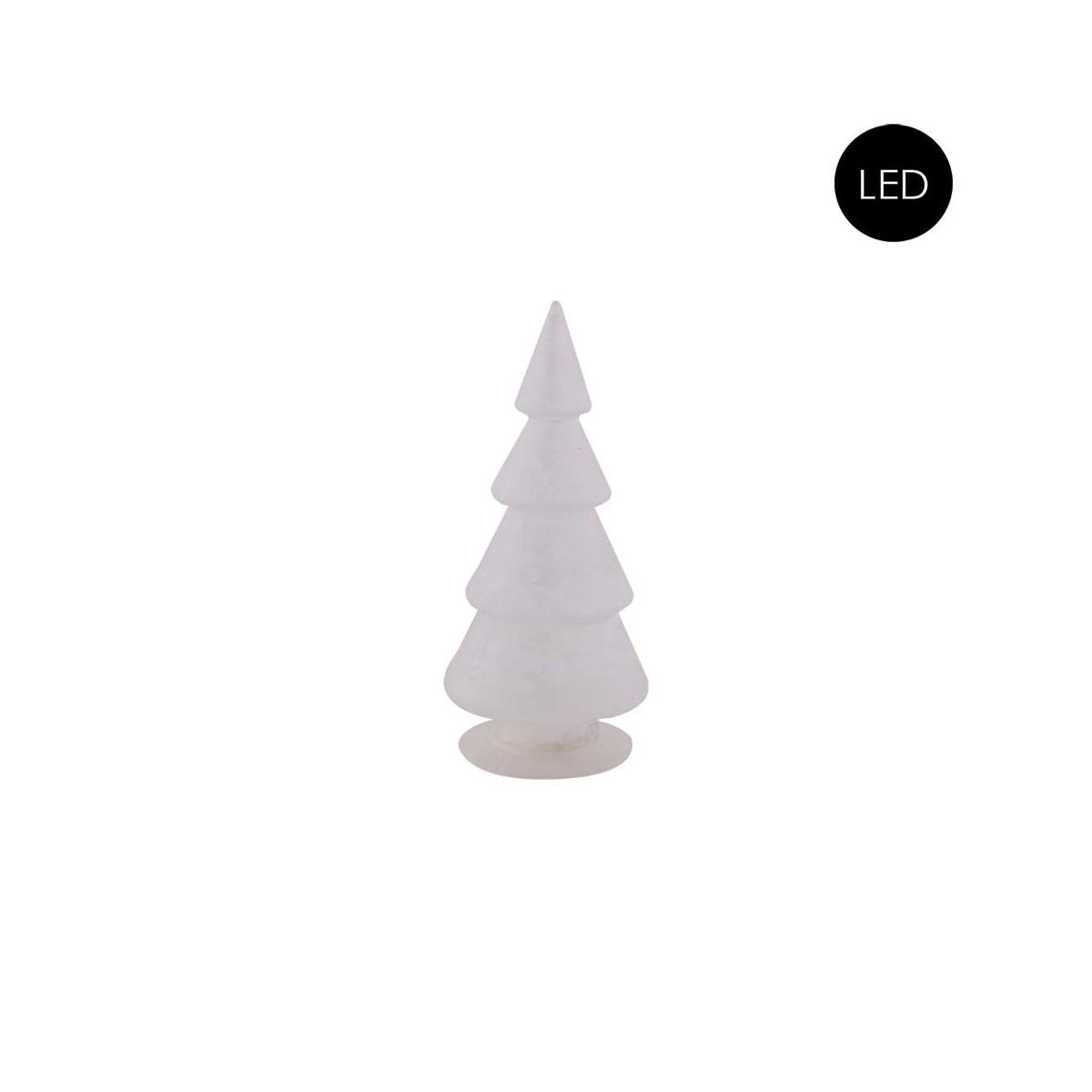Glas Weihnachtsbaum Frostet Glas + LED Batteriebetrieben, Größe S, 9 ...