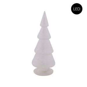 Glas Weihnachtsbaum Frostet Glas + LED Batteriebetrieben,...