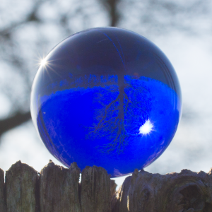 Kristallglaskugel K9 3cm BLAU