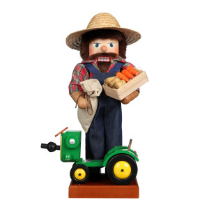 Christian Ulbricht Nussknacker Farmer mit Traktor