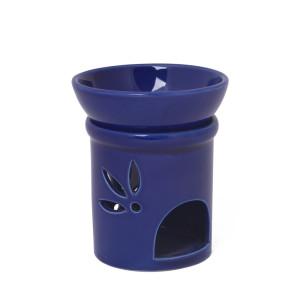 Duftlampe DUO blau Keramik 2teilig, H: 11 cm Ø 9 cm