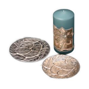 Kerzenhalter, Kerzenteller Alu silberoptik D12 cm