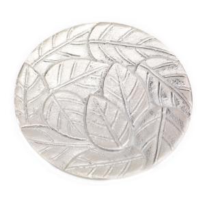Kerzenhalter, Kerzenteller Alu silberoptik D 14 cm