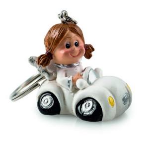Schlüsselanhänger Schutzengel Sarah im Auto