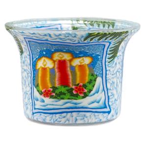 Candle Light - Teelichtglas klein 6,5 x 6,5 x 7 cm