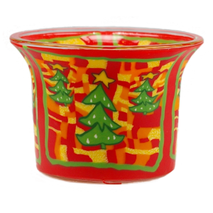 Green Christmas Tree - Teelichtglas klein 6,5 x 6,5 x 7 cm