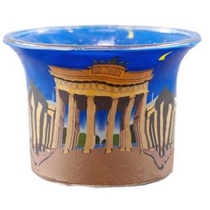 Berlin - Teelichtglas klein 6,5 x 6,5 x 7 cm
