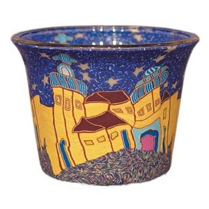 Citadelle - Teelichtglas klein 6,5 x 6,5 x 7 cm