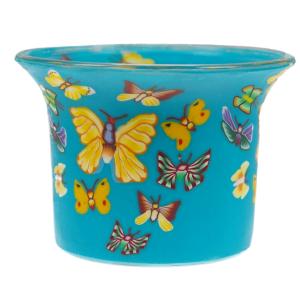 Butterfly - Teelichtglas klein 6,5 x 6,5 x 7 cm