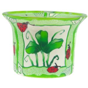 Green Leaves - Teelichtglas klein 6,5 x 6,5 x 7 cm