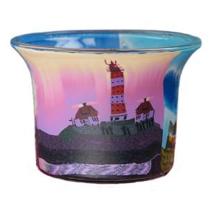 Lighthouse 1 - Teelichtglas klein 6,5 x 6,5 x 7 cm