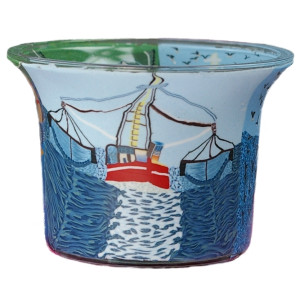 Fisherboat II - Teelichtglas klein 6,5 x 6,5 x 7 cm