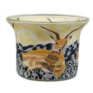 Antilope - Teelichtglas klein 6,5 x 6,5 x 7 cm