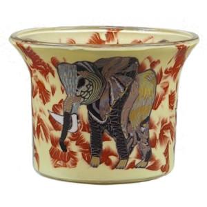 Elefant - Teelichtglas klein 6,5 x 6,5 x 7 cm