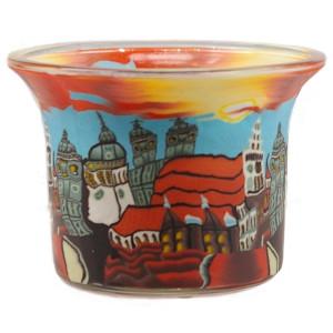 München - Teelichtglas klein 6,5 x 6,5 x 7 cm
