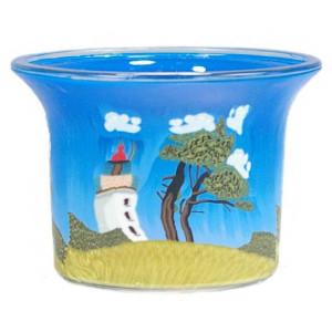 Lighthouse 3 - Teelichtglas klein 6,5 x 6,5 x 7 cm