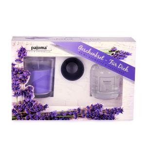Geschenkset- Für Dich, Raumduft + Duftkerze Lavendel