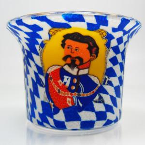 Bavarian King - Teelichtglas klein 6,5 x 6,5 x 7 cm