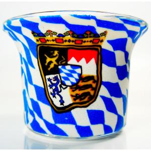 Bavarian Flag - Teelichtglas klein 6,5 x 6,5 x 7 cm
