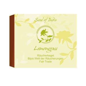 Lemongrass - Soul of India - FAIR TRADE Räucherkegel