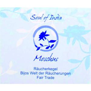 Moschus - Soul of India - FAIR TRADE Räucherkegel