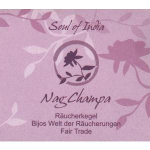 Nag Champa - Soul of India - FAIR TRADE Räucherkegel