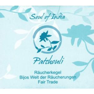 Patchouli - Soul of India - FAIR TRADE Räucherkegel