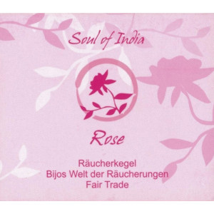 Rose - Soul of India - FAIR TRADE Räucherkegel