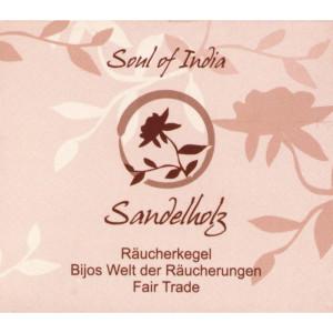 Sandelholz - Soul of India - FAIR TRADE Räucherkegel