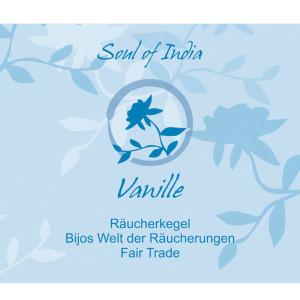 Vanille - Soul of India - FAIR TRADE Räucherkegel