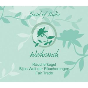 Weihrauch - Soul of India - FAIR TRADE Räucherkegel