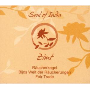 Zimt - Soul of India - FAIR TRADE Räucherkegel