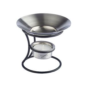 Duftlampe aus Metall, schwarz lackiert, Schale aus...