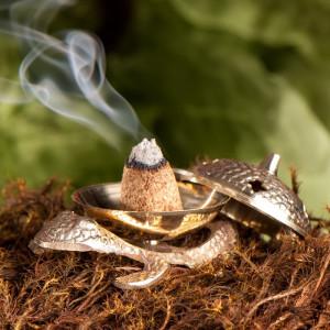 Frosch Räucherkegelhalter