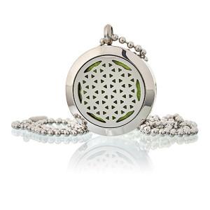 Aroma Diffusor Halskette - Blume des Lebens 25mm