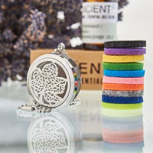 Aroma Diffusor Halskette - Blatt 30mm