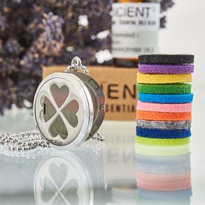 Aroma Diffusor Halskette - Vier Kleeblatt 30mm