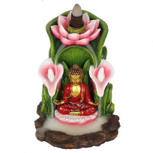 Colourful Buddha Backflow Incense Burner, Rückfluss...