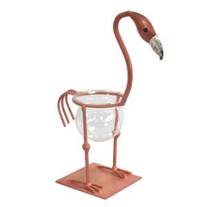 Hydroponischer Blumentöpf - Rosa Metall Flamingo 2