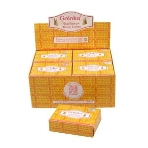 Indische Räucherkegel Goloka Schachtel mit 10 Kegel