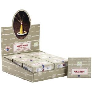 Indische Räucherkegel SATYA White Sage Schachtel mit...