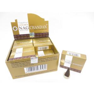 Golden Nag Chandan Räucherkegel Schachtel mit 10 Kegel