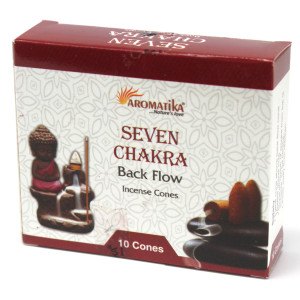 Aromatika Rückfluss Räucherkegel - 7 Chakras