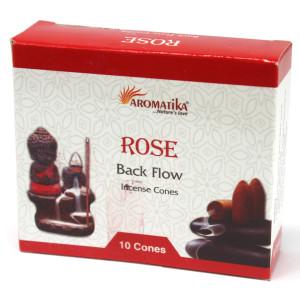 Aromatika Rückfluss Räucherkegel - Rose