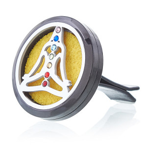 Auto Lufterfrischerset - Zinn Yoga Chakra - 30mm